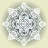 Floco de neve decorativo lindo — Vetorial Stock