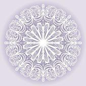 Vacker dekorativ snöflinga — Stockvektor