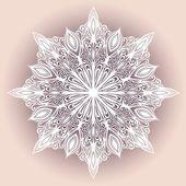 Beautiful Decorative Snowflake — Stock Vector