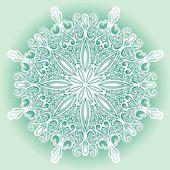 Krásný dekorativní vločka — Stock vektor