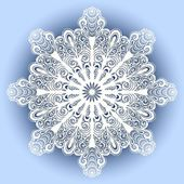 красивая декоративная снежинка — Cтоковый вектор