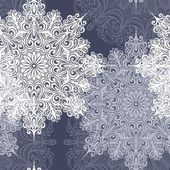 Seamless Pattern with Snowflakes (Vector) — Stock Vector