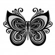 Vector Beautiful Butterfly, Exotic Insect. — Vector de stock #38167021