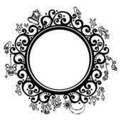 Beautiful Decorative Round Frame (Vector) — Stock Vector