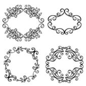 Vector Decorative Ornamental Frame for Text. — Cтоковый вектор