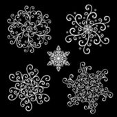 Beautiful Deco Small Snowflakes (Vector) — Stock Vector