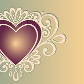Cartão vintage com coração. — Vetor de Stock