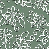 Seamless Ornate Floral Pattern — 图库矢量图片