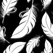 Patrones sin fisuras con plumas — Vector de stock