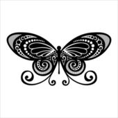 Vector Beautiful Butterfly, Exotic Insect — Stock Vector