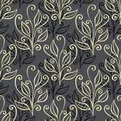 Seamless Floral Pattern with Leaves — Vetorial Stock
