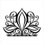 Decorative Ornate Crown — Stock Vector