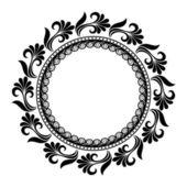 Beautiful Deco Floral Circle (Vector) — Stok Vektör