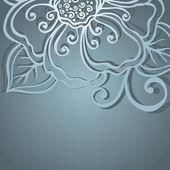 Agencement floral coloré. carte de voeux — Vecteur