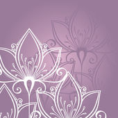Colored Floral Layout. Greeting Card — Stockvector