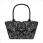 Decorative Ornate Women's Bag — Stok Vektör