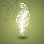 Vector Template with Peerless Feather in Ornate Background — Stock Vector
