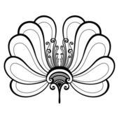 Beautiful Decorative Flower (Vector) — Stock Vector