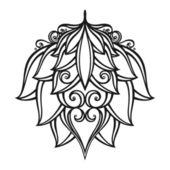 Linda flor decorativa (vector) — Vetor de Stock