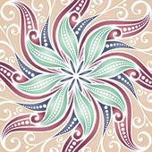 Vector Colored Ornate Background — Vector de stock