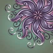 Vector Colored Ornate Background — Wektor stockowy