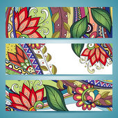Vector Set of Floral Banner — Cтоковый вектор