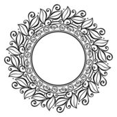Beautiful Deco Floral Circle (Vector) — Stockvektor