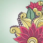 Vector Colored Floral Background — Stockvektor