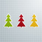 Colored Fir-Trees. Set of Four — Stockvector