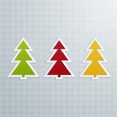 Colored Fir-Trees. Set One — Vector de stock