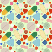 Flat Background of Pills — Stock Vector