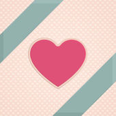 Karte Herz — Stockvektor