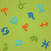 Bright Seamless Texture Signs of The Zodiac — Stock Vector
