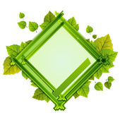 Frame With the Composition of Foliage Number One — Stock Vector