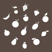 Fruit Silhouettes — Stock vektor