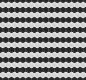 мозаика шестигранная черно-белый шаблон — Cтоковый вектор