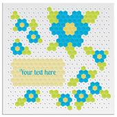 Mozaika květiny — Stock vektor