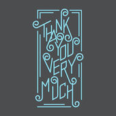 Thank You Very Much — Stockvector