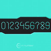 Sci Fi Number — Stock Vector