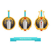 Sharp Sword Icons — Stok Vektör