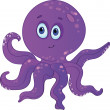 Сute cartoon octopus. — Stock Vector