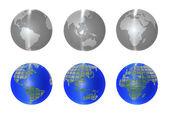 Ikona ziemi — Zdjęcie stockowe