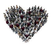 Heart people — Stock Photo