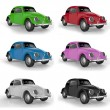 Stock Photo: Multi-colored cars