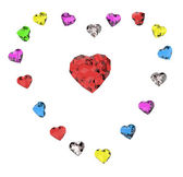 Colored hearts — Stock Photo