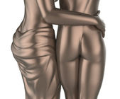 Sexy young couple statue — Foto Stock