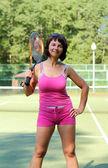 Meisje met racket — Stockfoto