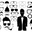 Set of glasses and other accessory — Stock Vector #32834419