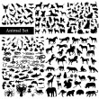 Set of animals  — Stockvectorbeeld