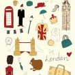 London colored objects — Stock Vector